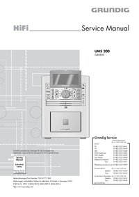 Serviceanleitung Grundig UMS 200