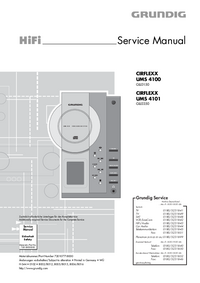 Servicehandboek Grundig CIRFLEXX UMS 4100