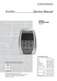 Руководство по техническому обслуживанию Grundig NOCTUS SC 9100 DCF RDS