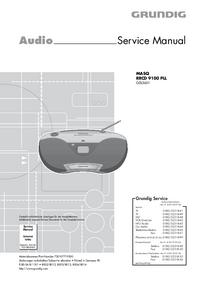 manuel de réparation Grundig MASQ RRCD 9100 PLL