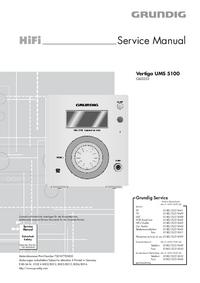Manual de servicio Grundig Vertiga UMS 5100