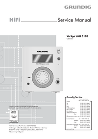 manuel de réparation Grundig Vertiga UMS 5100
