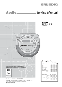 Service Manual Grundig MYSTIXX CDP 9100 SPCD