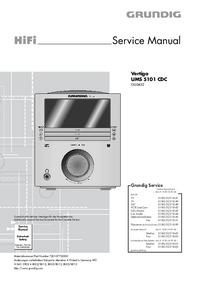 manuel de réparation Grundig Vertiga UMS 5101 CDC