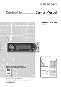 Service Manual Grundig Allixx SCD 5410 DAB
