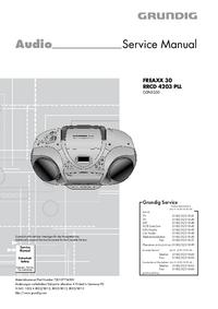 Serviceanleitung Grundig FREAXX 30 RRCD 4203 PLL