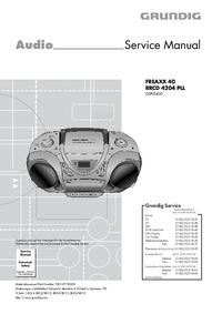 Manual de serviço Grundig FREAXX 40 RRCD 4204 PLL