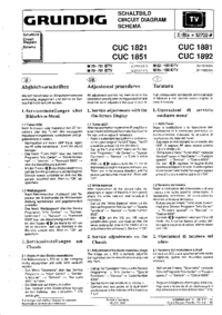 manuel de réparation Grundig CUC1881