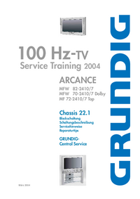 Service Manual Grundig Chassis 22.1