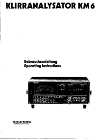 Servicehandboek Grundig KM 6