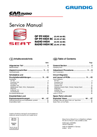 Manual de servicio Grundig GP 99 HIGH