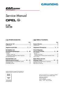 manuel de réparation Grundig CAR 200