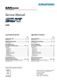 Service Manual Grundig AURA