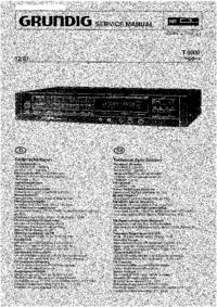Manual de servicio Grundig T9000