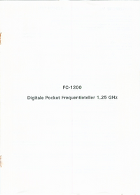 Bedienungsanleitung H.G.L FC-1200