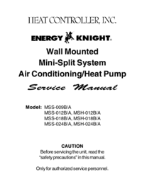 Service Manual HEATCONTROLLER MSH-012B/A