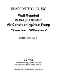 Руководство по техническому обслуживанию HEATCONTROLLER DMH18DB-1