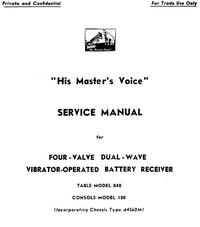 Serviceanleitung HMV 848