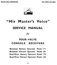 manuel de réparation HMV 182