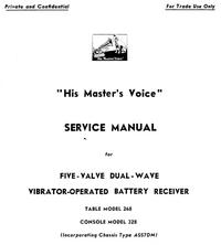 Manuale di servizio HMV 328