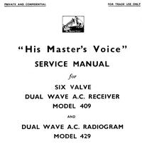 Manuale di servizio HMV 409