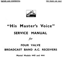 manuel de réparation HMV 444