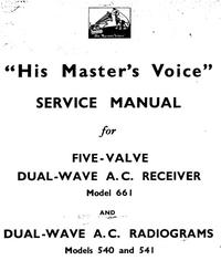 Servicehandboek HMV 541