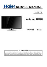 Service Manual Haier MSD3393