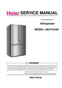 Servicehandboek Haier HB21FC45N*