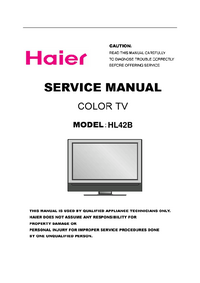 Instrukcja serwisowa Haier HL42B