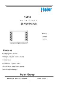 Serviceanleitung Haier 29T5A