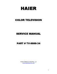 manuel de réparation Haier P42S6A-C2