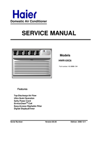 Service Manual Haier HWR10XC6