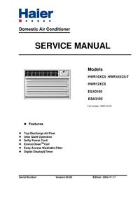 manuel de réparation Haier HWR10XC5-T