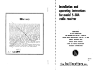 Service and User Manual Hallicrafter S-38A