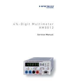 Manual de serviço Hameg HM8012