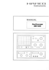 Service-en gebruikershandleiding Hameg HM 1005