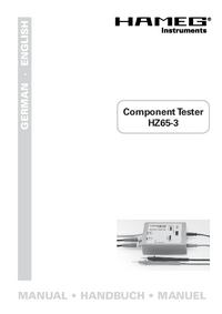 Gebruikershandleiding Hameg HZ65-3