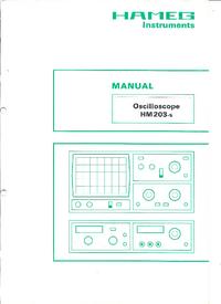 Обслуживание и Руководство пользователя Hameg HM203-5