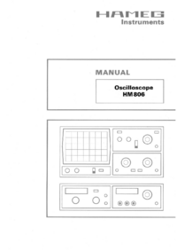 User Manual Hameg HM806