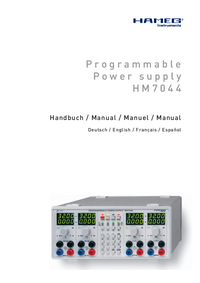 Manual del usuario Hameg HM7044
