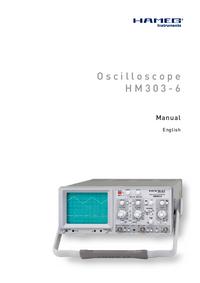 Manuale d'uso Hameg HM303-6