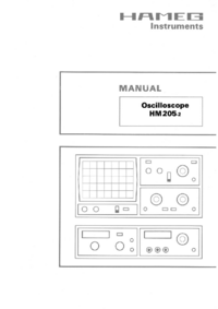Servicio y Manual del usuario Hameg HM205-2