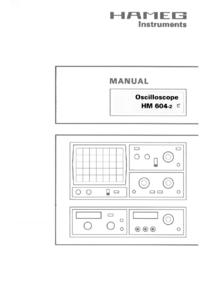 Gebruikershandleiding Hameg HM604