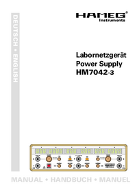 User Manual Hameg HM7042-3