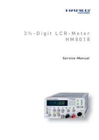 Manual de servicio Hameg HM8018
