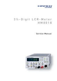 Manual de serviço Hameg HM8018