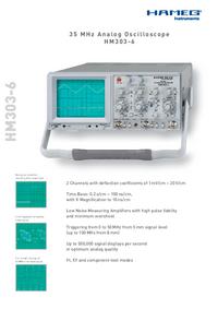 Технический паспорт Hameg HM303-6
