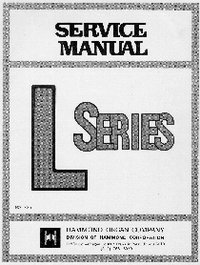 Service Manual Hammond L-100-1