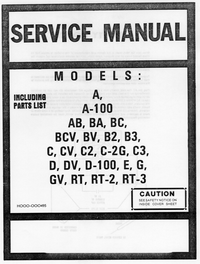 Manual de servicio Hammond A